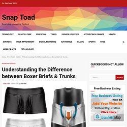 Understanding the Difference between Boxer Briefs & Trunks