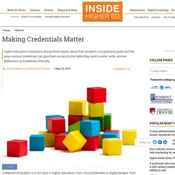 Understanding the differences in what credentials are being stacked and why (essay)