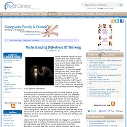 » Understanding Distortions Of Thinking