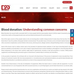 Blood donation understanding common concerns