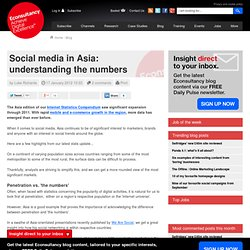 Social media in Asia: understanding the numbers