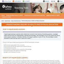 Understanding Inquiry in Health and Physical Education