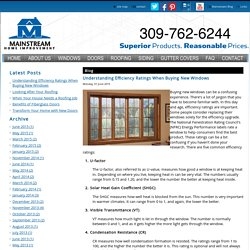 Understanding Efficiency Ratings When Buying New Windows