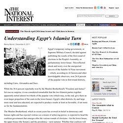 Understanding Egypt's Islamist Turn