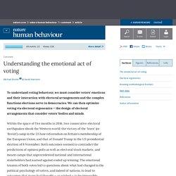 Understanding the emotional act of voting : Nature Human Behaviour