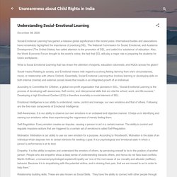 Understanding Social-Emotional Learning