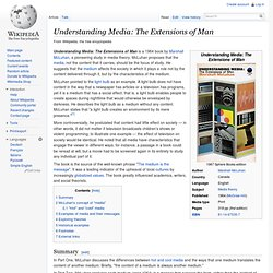 Understanding Media: The Extensions of Man - Wikipedia, the free