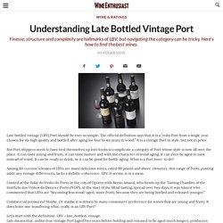 Understanding Late Bottled Vintage Port