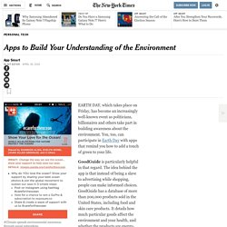 Apps to Build Your Understanding of the Environment