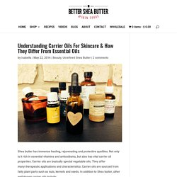 Understanding Carrier Oils for Skincare - How they differ from essential oils
