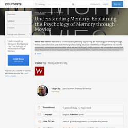Understanding Memory: Explaining the Psychology of Memory through Movies - Wesleyan University