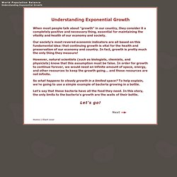 Understanding Exponential Growth Tutorial and Exercise - World Population Balance