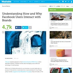 Understanding How and Why Facebook Users Interact with Brands