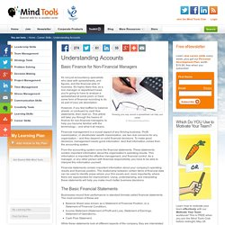 Understanding Accounts - Basic Finance for Non-Financial Managers - Career Development from MindTools