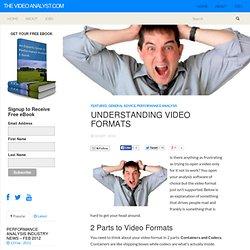 Understanding Video Formats
