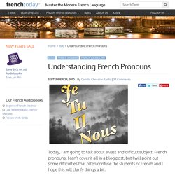 Understanding French Pronouns
