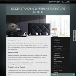 Comprehending Various kinds of Furniture Styles