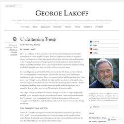Understanding Trump « George Lakoff