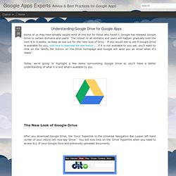 Google Apps Experts: Understanding Google Drive for Google Apps