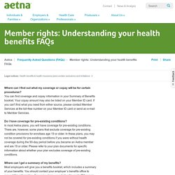 Understanding Your Health Benefits FAQs