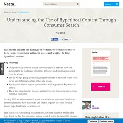 Understanding the Use of Hyperlocal Content Through Consumer Search