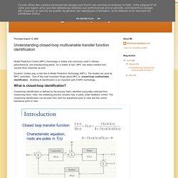 PID Tuning Company : Understanding closed-loop multivariable transfer function identification