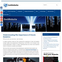 Understanding The Importance of Oracle Exalytics - Go4Website