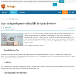 Understanding the Importance of Local SEO Services for Businesses