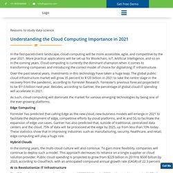 Understanding the Cloud Computing Importance in 2021