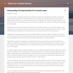 Understanding The Important Role Of A Criminal Lawyer