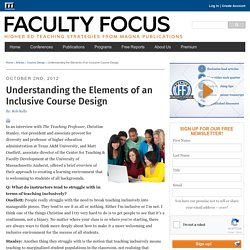 Understanding the Elements of an Inclusive Course Design