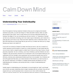 Understanding Your Individuality