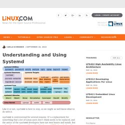Understanding and Using Systemd