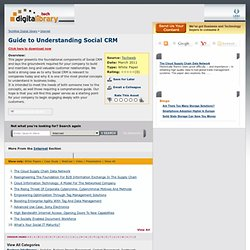 Guide to Understanding Social CRM - The BrainYard - InformationWeek