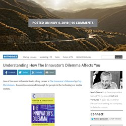 Understanding How The Innovator's Dilemma Affects You