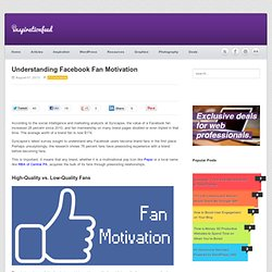 Understanding Facebook Fan Motivation