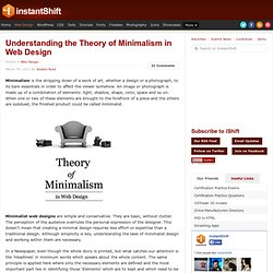 Understanding the Theory of Minimalism in Web Design | Web Design | instantShift