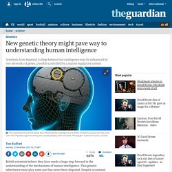 New genetic theory might pave way to understanding human intelligence