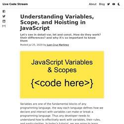 Les scopes en JS