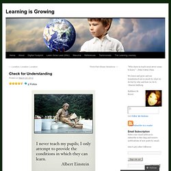 Check for Understanding | Learning is Growing