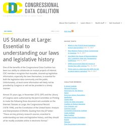 US Statutes at Large: Essential to understanding our laws and legislative history