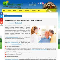 Understanding Your Loved Ones with Dementia