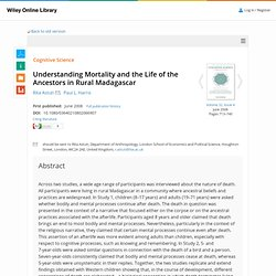 Understanding Mortality and the Life of the Ancestors in Rural Madagascar - Astuti - 2008 - Cognitive Science