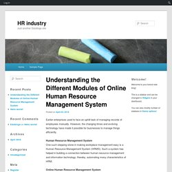 Understanding the Different Modules of Online Human Resource Management System