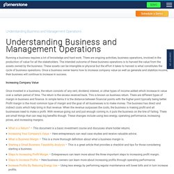 Understanding Business and Management Operations