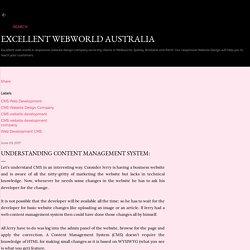 UNDERSTANDING Content Management system: