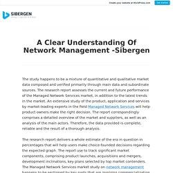 A Clear Understanding Of Network Management -Sibergen
