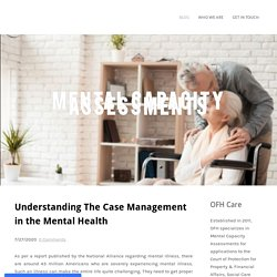 Understanding The Case Management in the Mental Health
