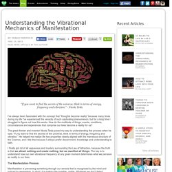 Understanding the Vibrational Mechanics of Manifestation