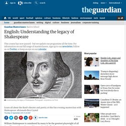 English: Understanding Shakespeare